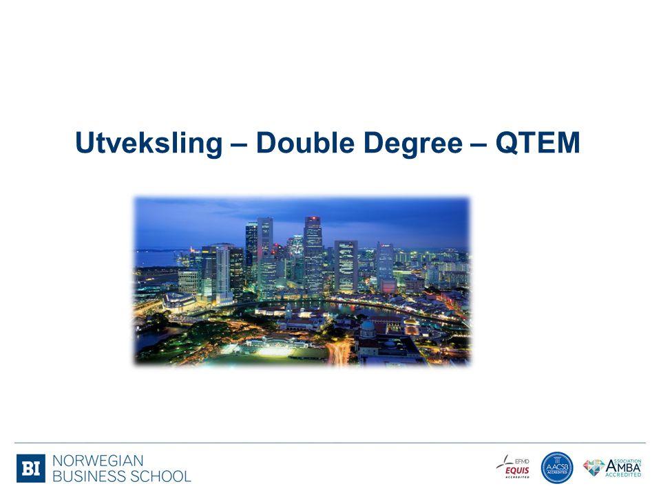 Utveksling – Double Degree – QTEM