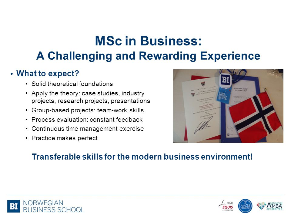 MSc in Business: A Challenging and Rewarding Experience