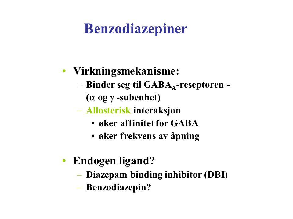 Benzodiazepiner Virkningsmekanisme: Endogen ligand