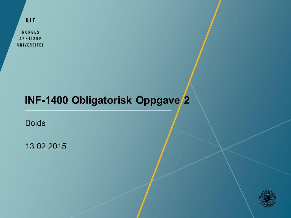 INF-1400 Obligatorisk Oppgave 2