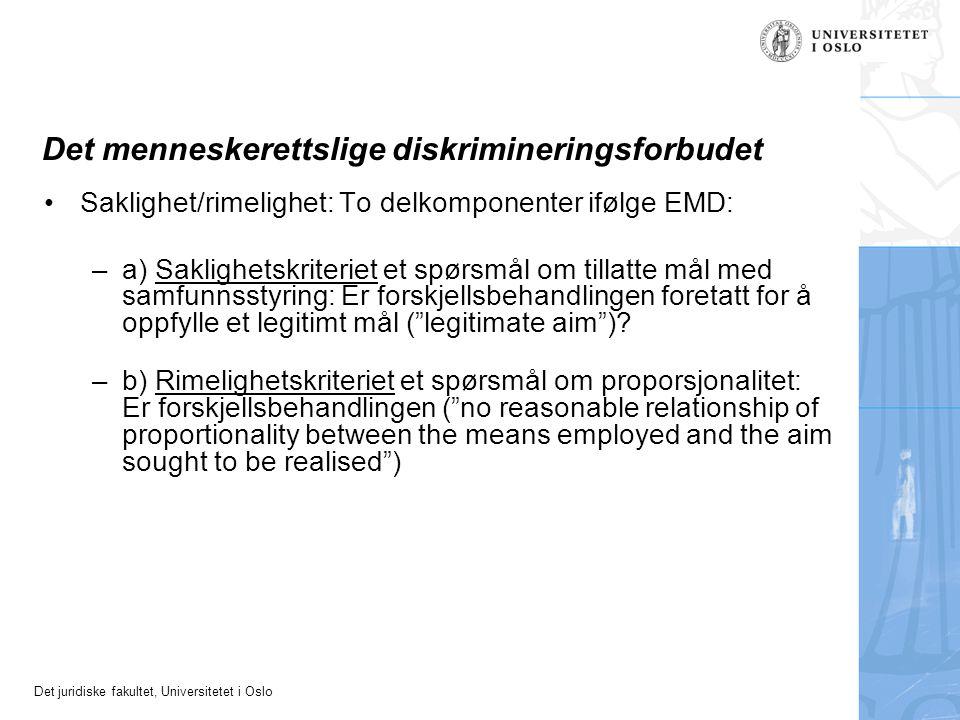 Det menneskerettslige diskrimineringsforbudet