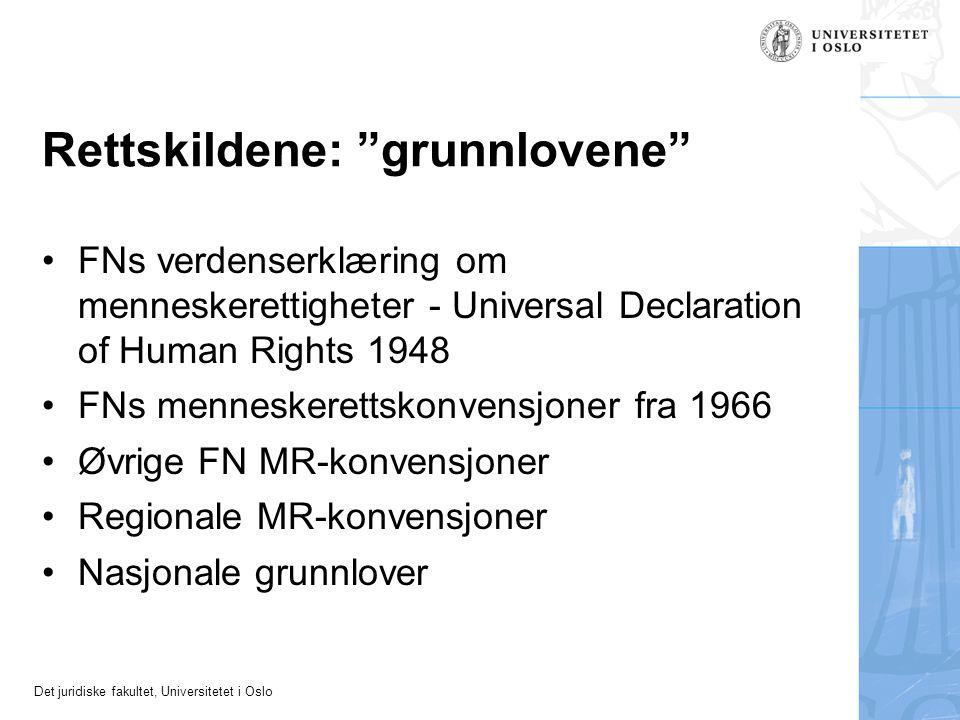 Rettskildene: grunnlovene