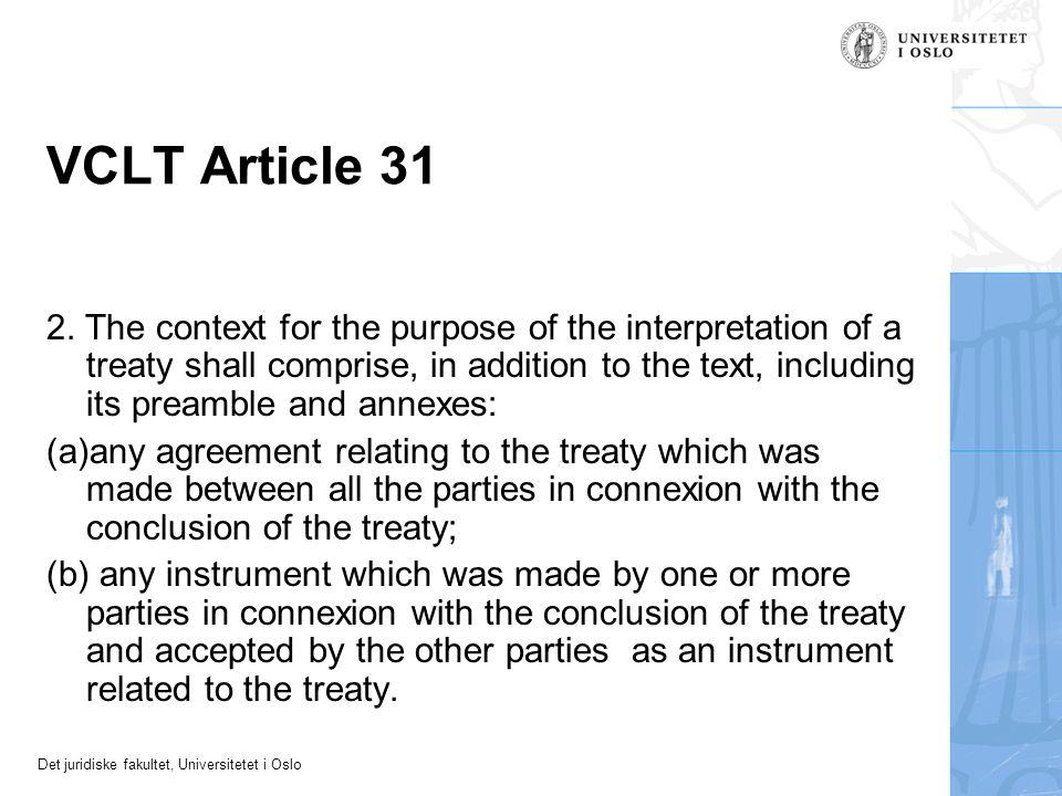 VCLT Article 31