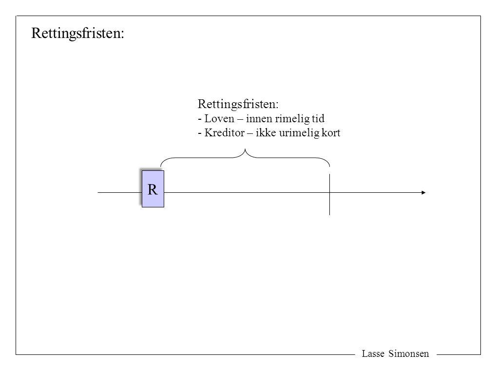 Rettingsfristen: R Rettingsfristen: Loven – innen rimelig tid