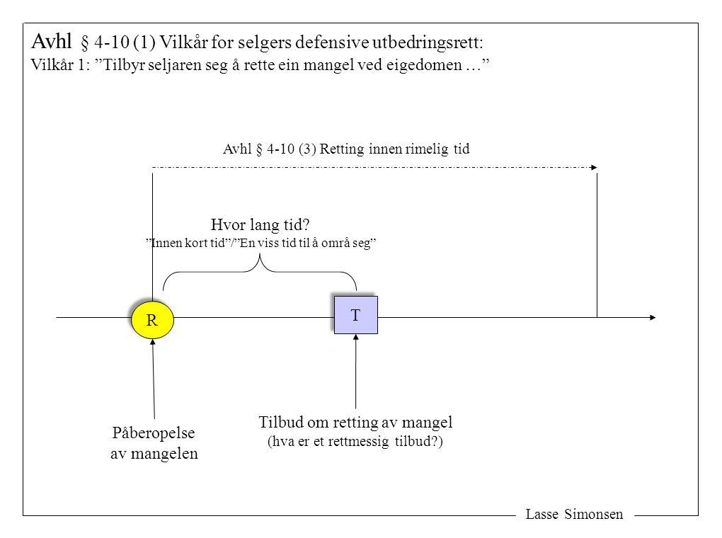 Avhl § 4-10 (1) Vilkår for selgers defensive utbedringsrett: