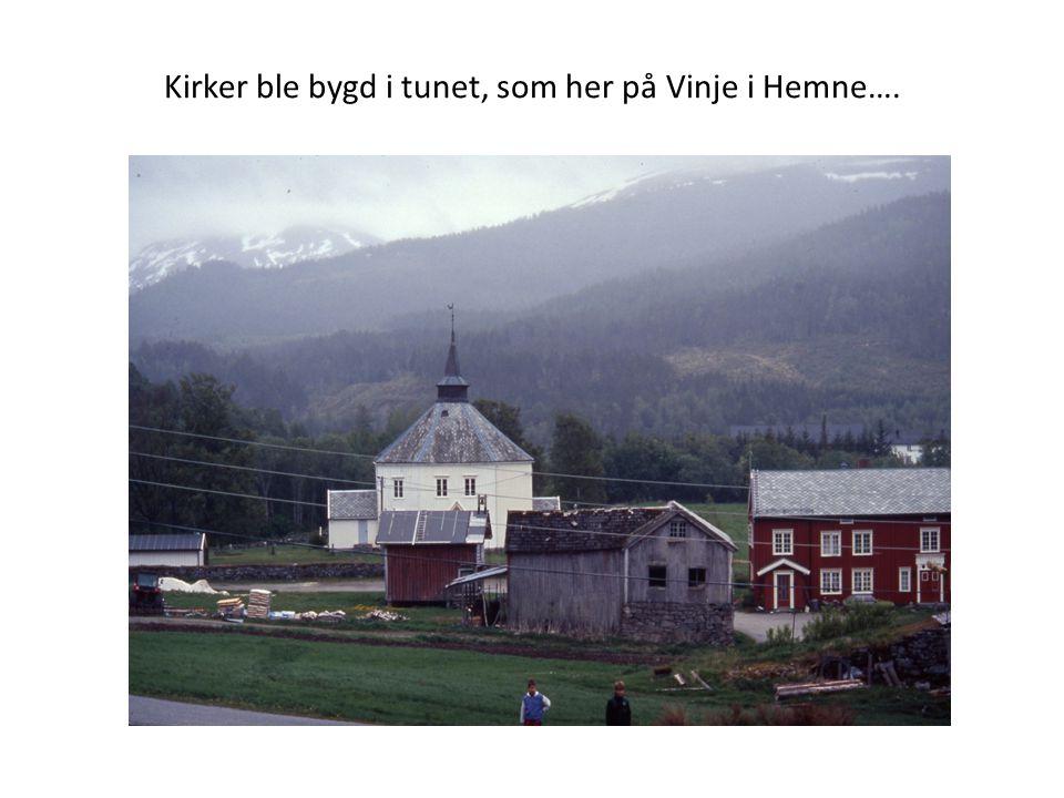 Kirker ble bygd i tunet, som her på Vinje i Hemne….