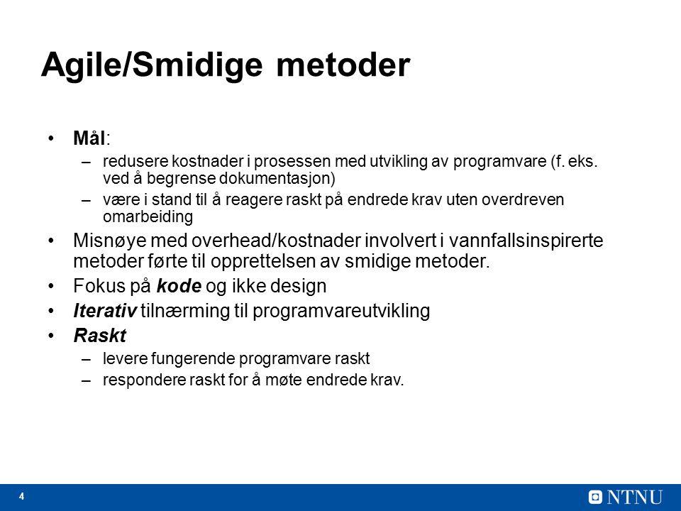 Agile/Smidige metoder