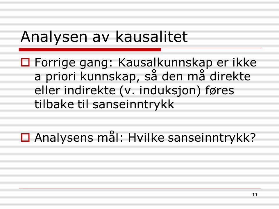 Analysen av kausalitet