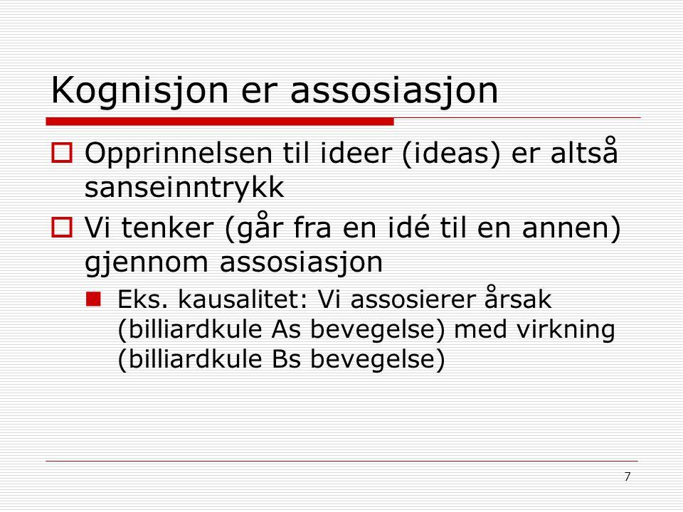Kognisjon er assosiasjon