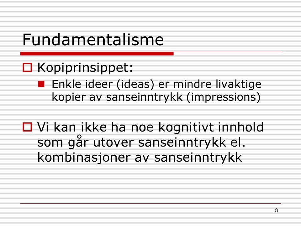 Fundamentalisme Kopiprinsippet: