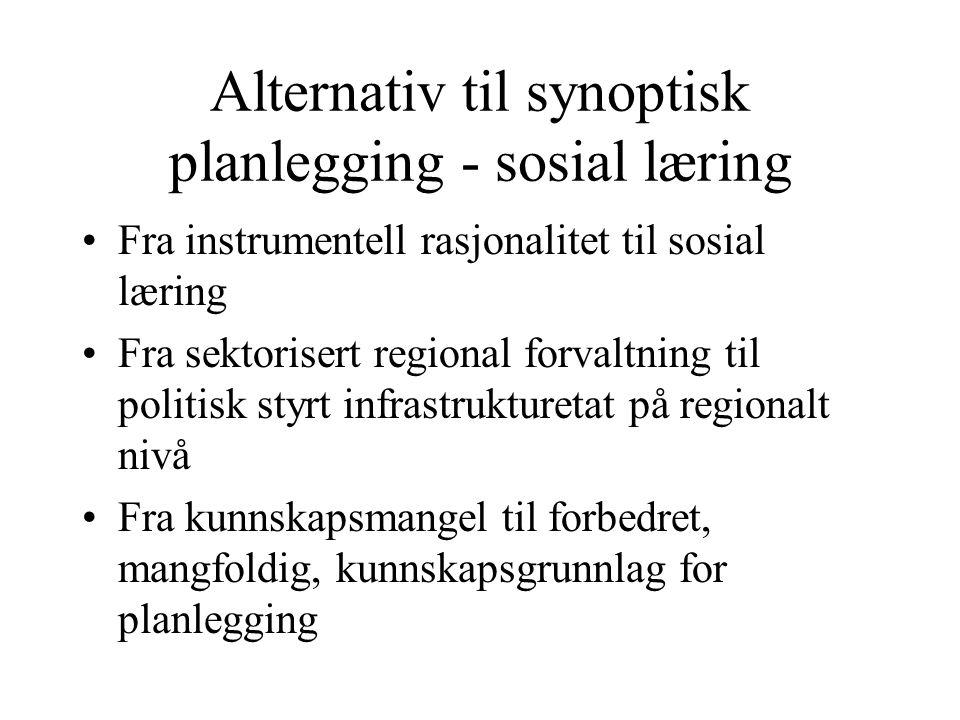 Alternativ til synoptisk planlegging - sosial læring