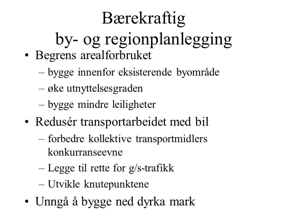 Bærekraftig by- og regionplanlegging