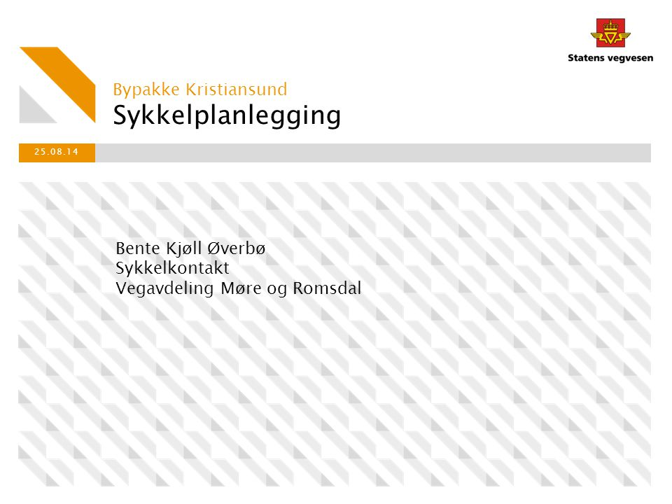Sykkelplanlegging Bypakke Kristiansund Bente Kjøll Øverbø