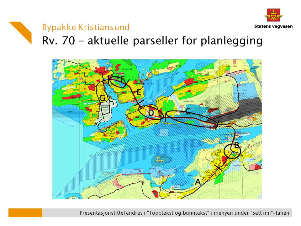 Rv. 70 – aktuelle parseller for planlegging