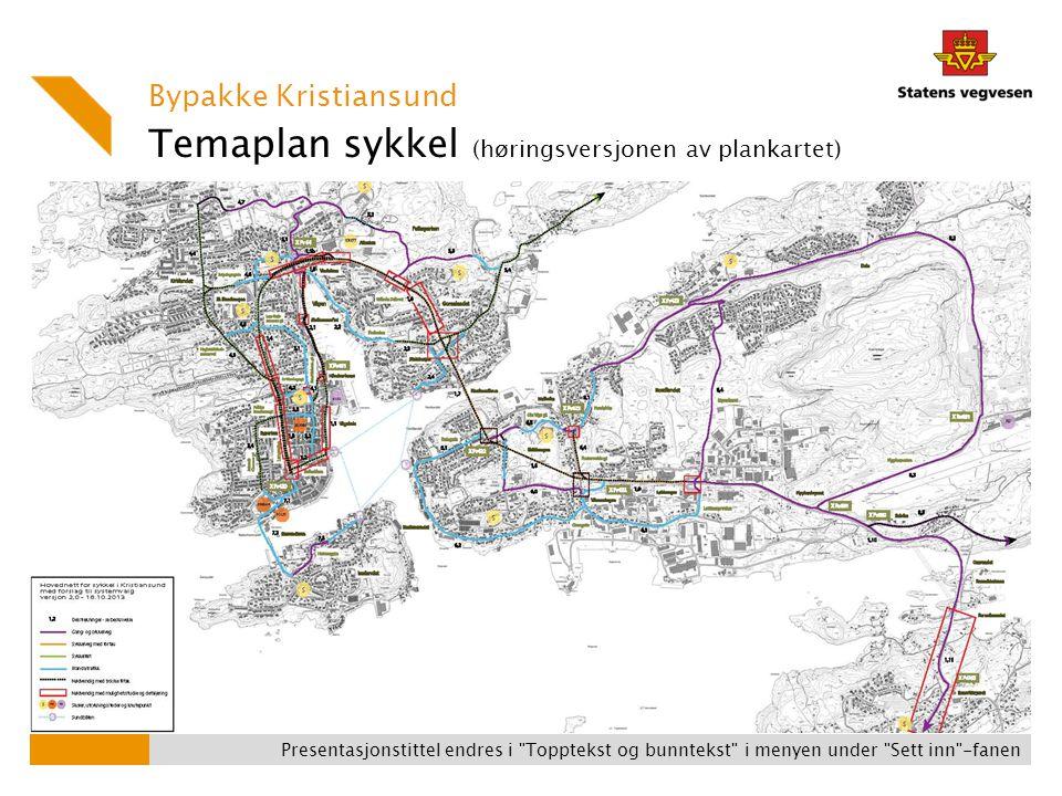 Temaplan sykkel (høringsversjonen av plankartet)