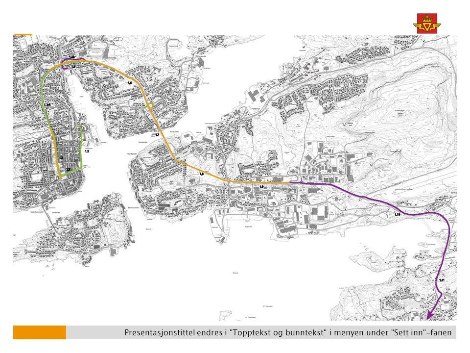 Gjennom Bypakken vil blant annet gang- og sykkeltilbudet langs Rv 70 forbedres…
