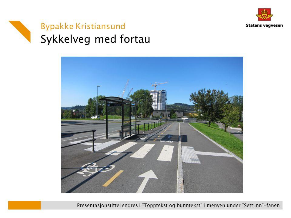 Sykkelveg med fortau Bypakke Kristiansund