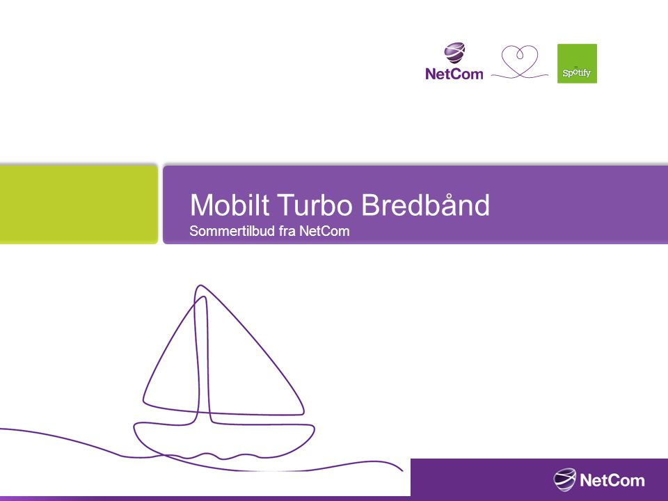 Mobilt Turbo Bredbånd Sommertilbud fra NetCom