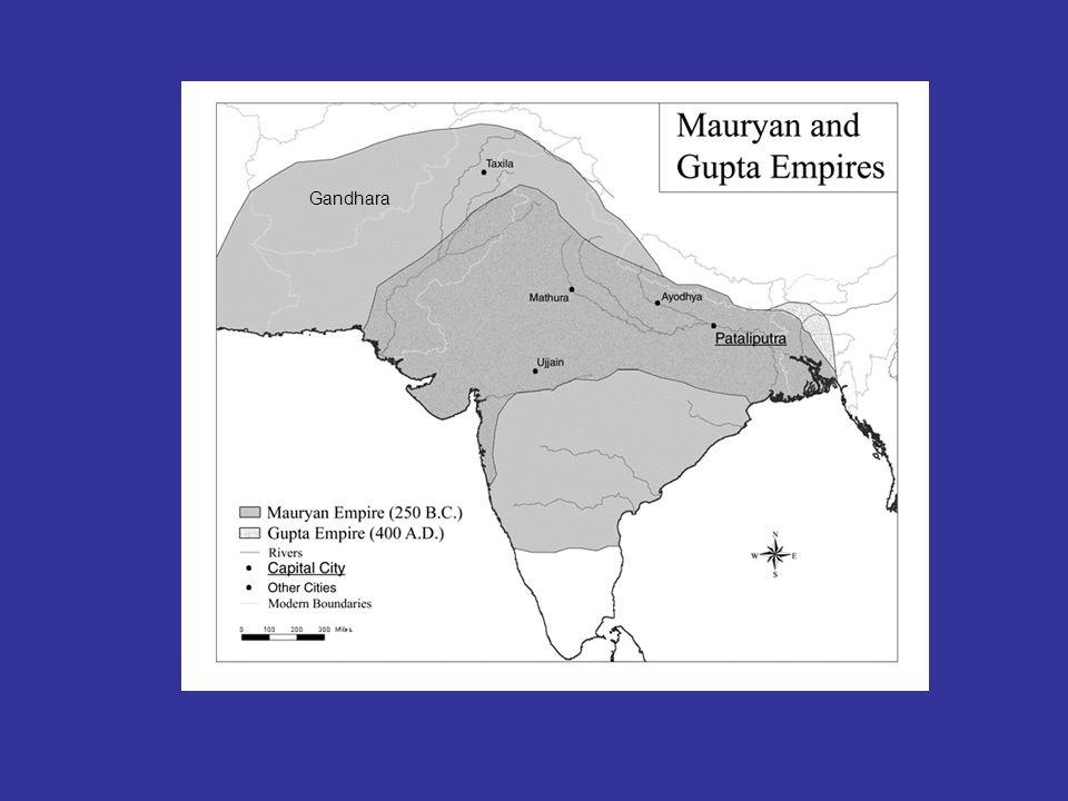 Gupta-riket, ca. 300 v.t. Gandhara Gandhara Pataliputra