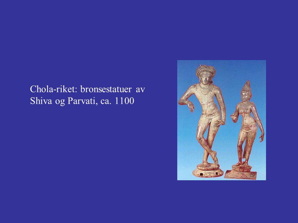 Chola-riket: bronsestatuer av Shiva og Parvati, ca. 1100