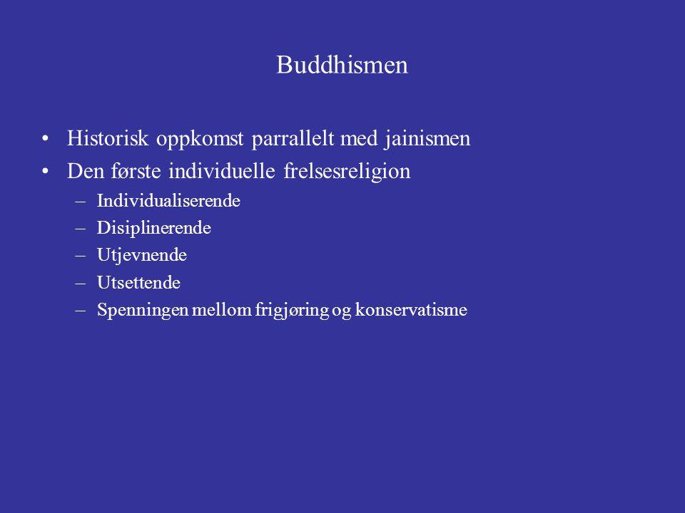 Buddhismen Historisk oppkomst parrallelt med jainismen