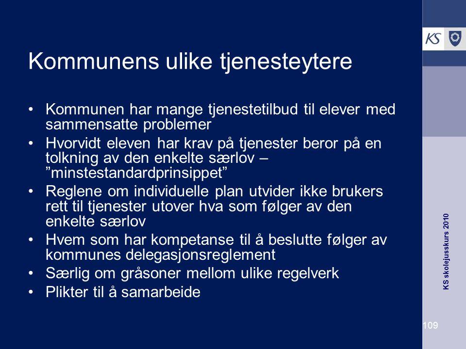 Kommunens ulike tjenesteytere