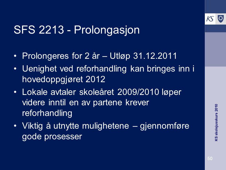 SFS 2213 - Prolongasjon Prolongeres for 2 år – Utløp 31.12.2011