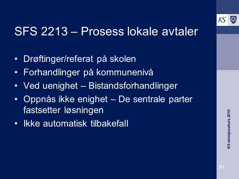 SFS 2213 – Prosess lokale avtaler