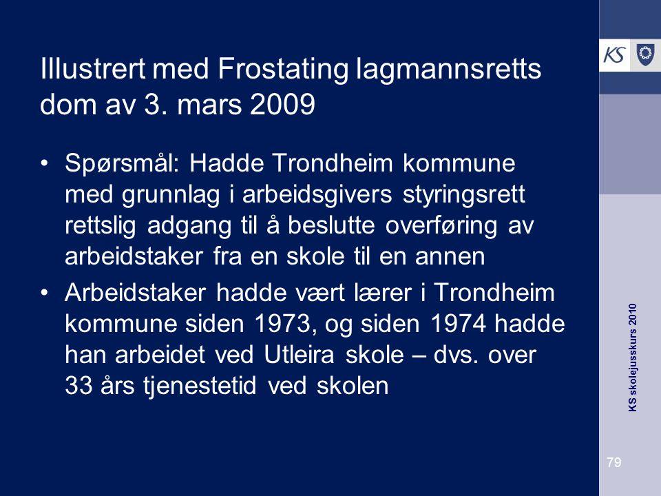 Illustrert med Frostating lagmannsretts dom av 3. mars 2009
