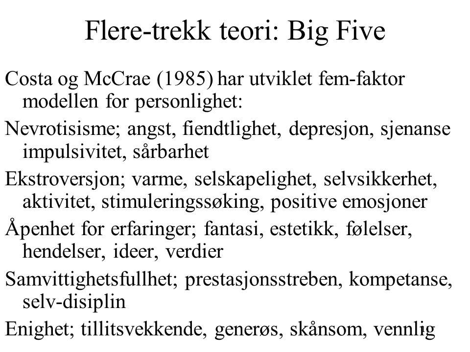Flere-trekk teori: Big Five