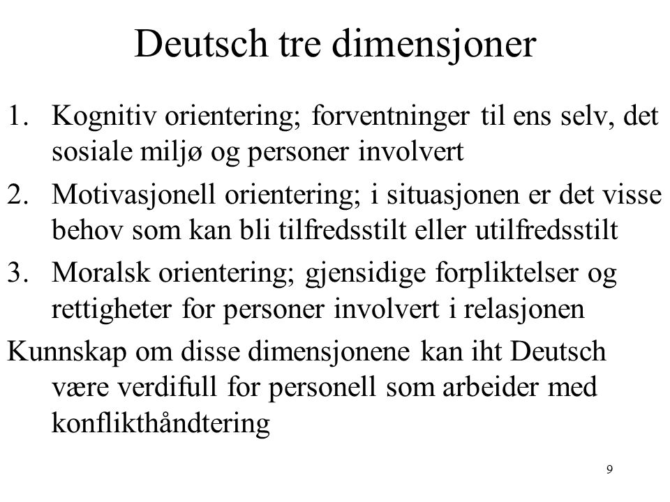 Deutsch tre dimensjoner