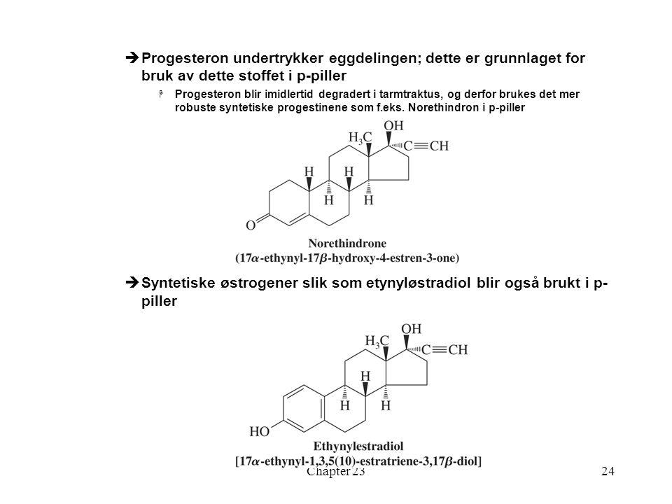 Progesteron undertrykker eggdelingen; dette er grunnlaget for bruk av dette stoffet i p-piller