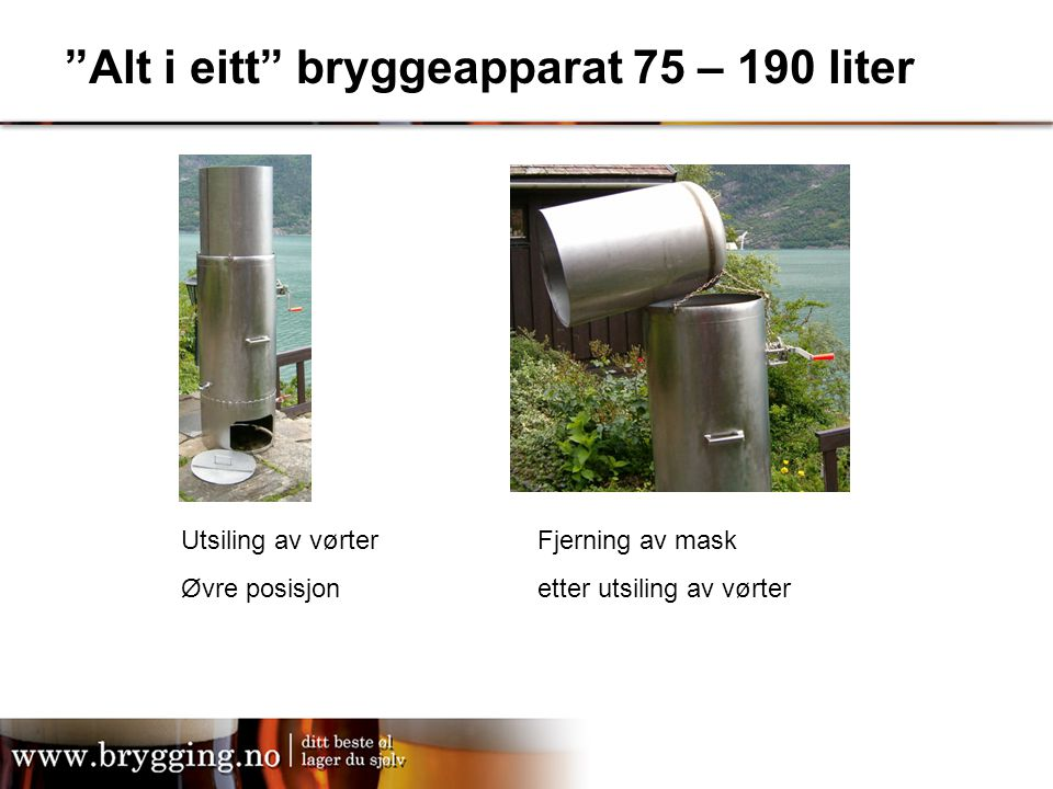 Alt i eitt bryggeapparat 75 – 190 liter