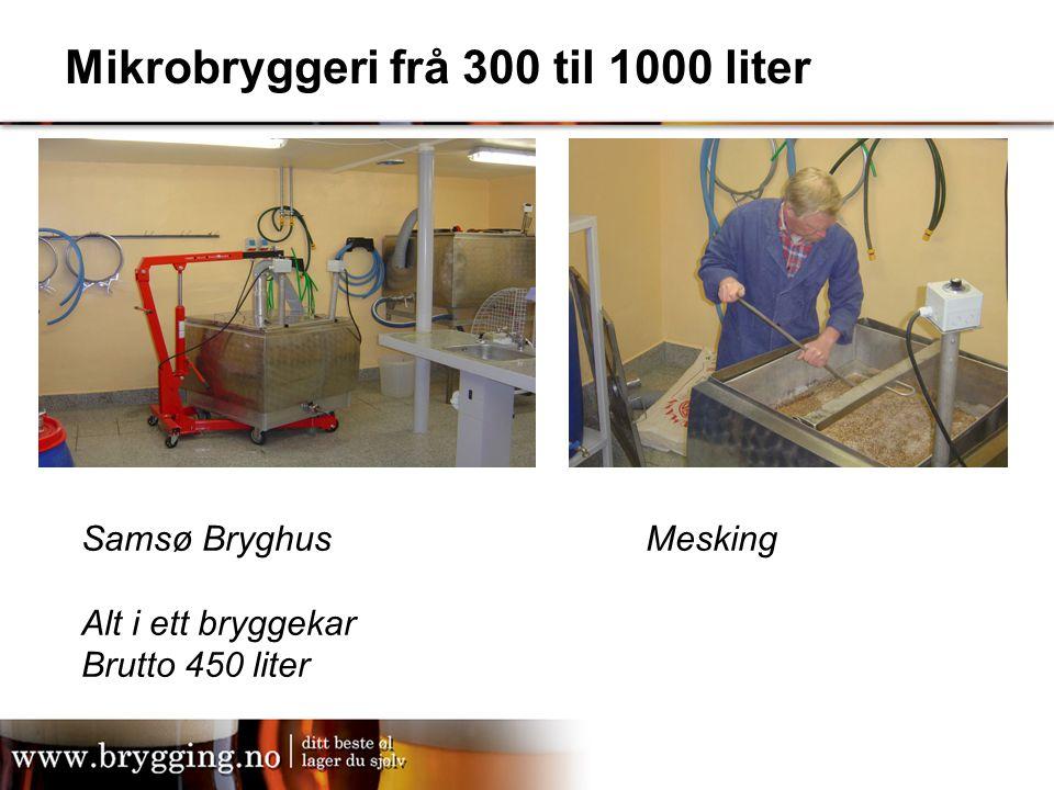 Mikrobryggeri frå 300 til 1000 liter