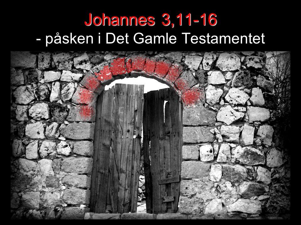 Johannes 3,11-16 - påsken i Det Gamle Testamentet