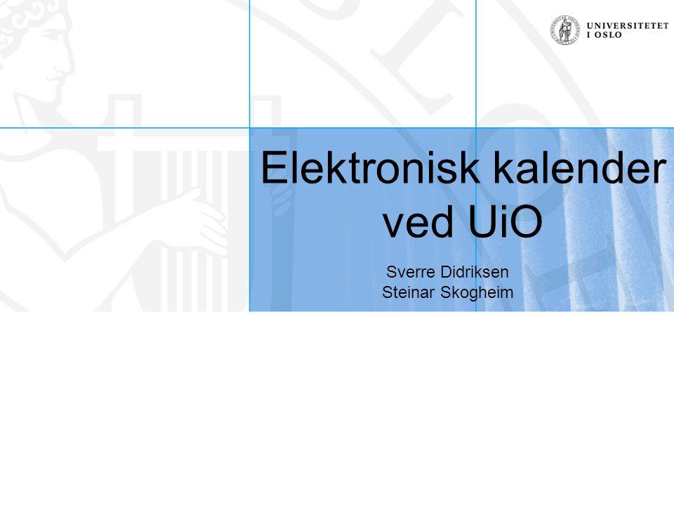 Elektronisk kalender ved UiO
