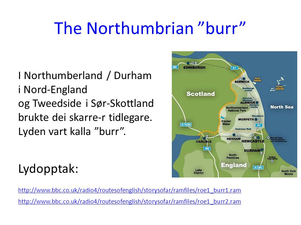 The Northumbrian burr
