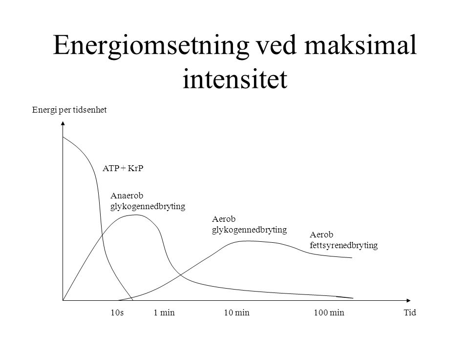 Energiomsetning ved maksimal intensitet