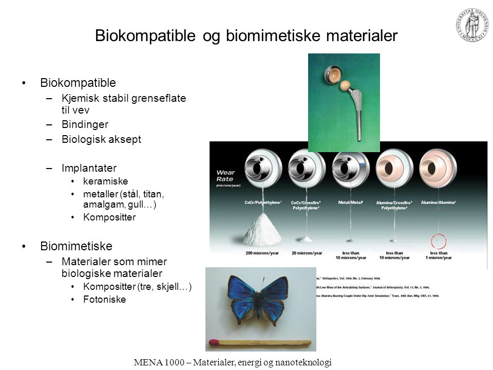 Biokompatible og biomimetiske materialer