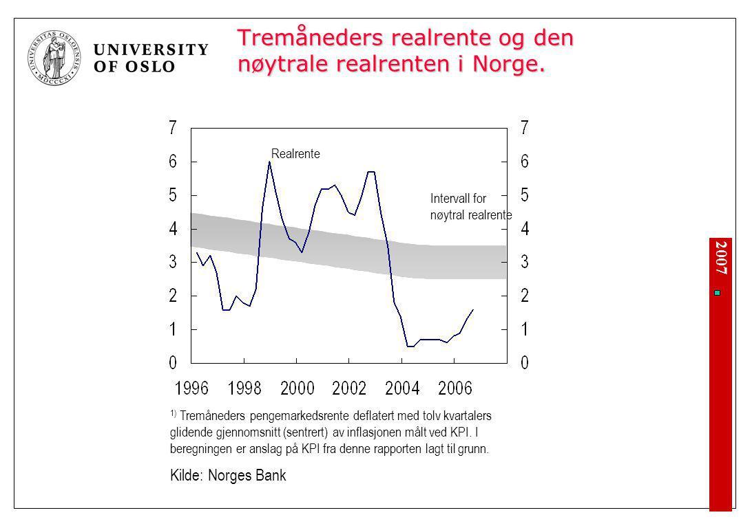 Lange svingninger i realøkonomi og arbeidsledighet