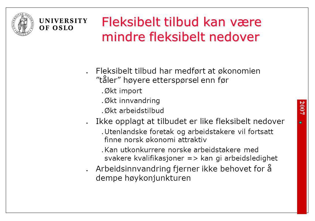 Norge nå - mangel på arbeidskraft