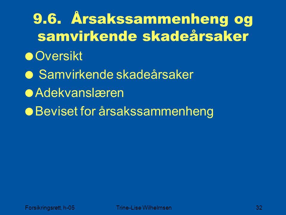 9.6. Årsakssammenheng og samvirkende skadeårsaker