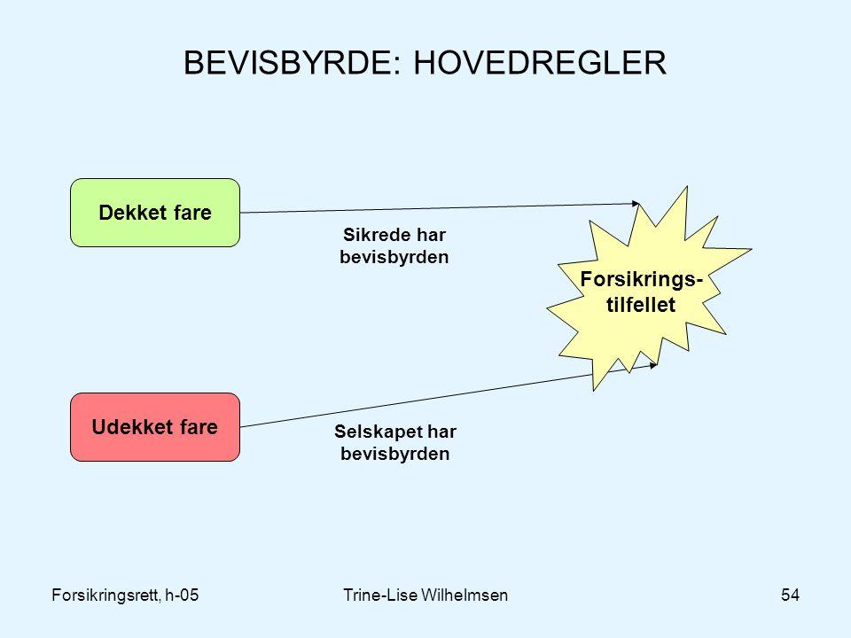 BEVISBYRDE: HOVEDREGLER
