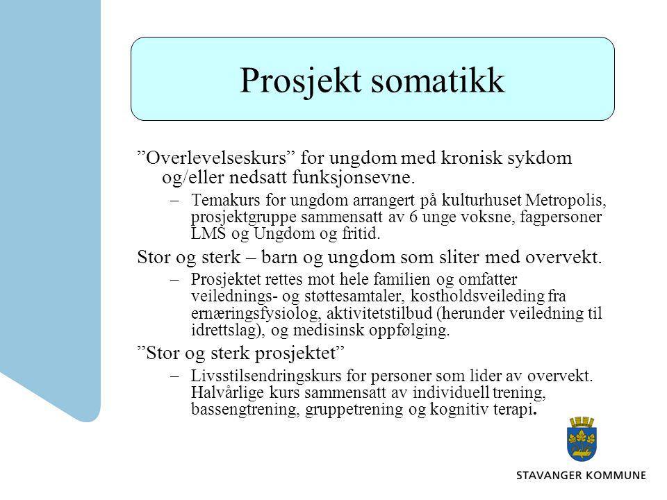 Prosjekt somatikk Overlevelseskurs for ungdom med kronisk sykdom og/eller nedsatt funksjonsevne.