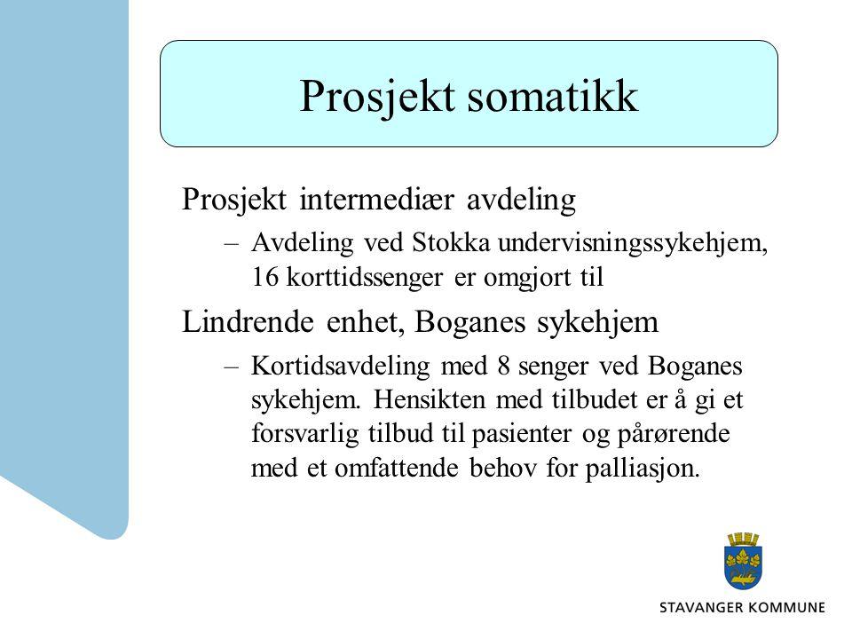 Prosjekt somatikk Prosjekt intermediær avdeling