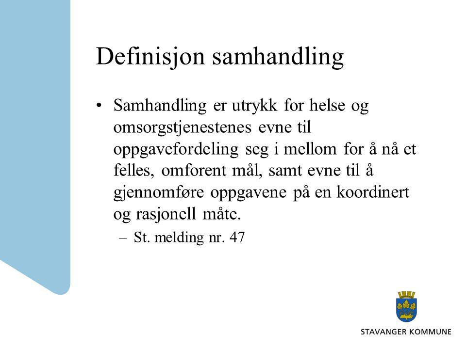 Definisjon samhandling