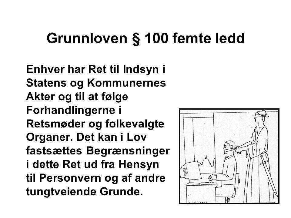 Grunnloven § 100 femte ledd