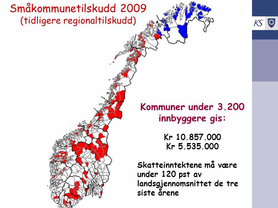 Småkommunetilskudd 2009 (tidligere regionaltilskudd)