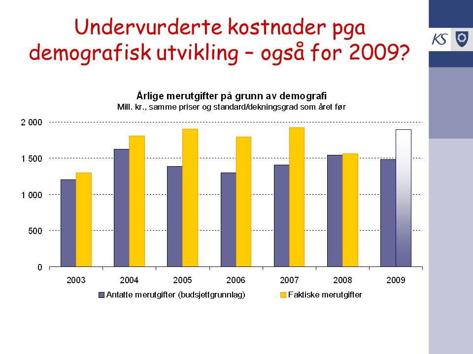 Undervurderte kostnader pga demografisk utvikling – også for 2009