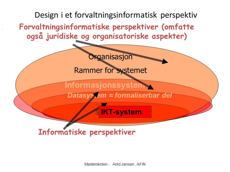 Design i et forvaltningsinformatisk perspektiv